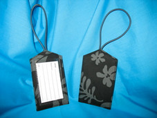 Hawaiian Paradise Retro Luggage Tag- Black/Grey