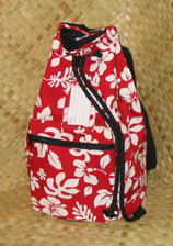 Hawaiian SLING -Paradise Retro Bag- Red/White