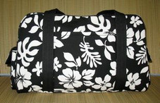 Hawaiian TRAVEL -Paradise Retro Travel Bag- Black/White