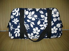 Hawaiian TRAVEL -Paradise Retro Travel Bag- Navy/White
