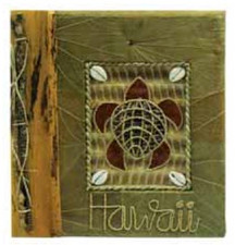 "Hawaiian Photo Album ""Honu"" Green Leaf"