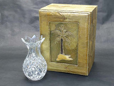 Pineapple Crystal Vase 6""