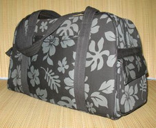 Hawaiian TRAVEL -Paradise Retro Travel Bag- Black/Grey