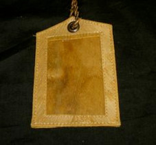 Native Fiber Coconut Husk Luggage Tag