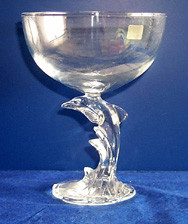 Dolphin Collectors Glass Bowl