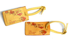 Hawaiian Leather luggage tag