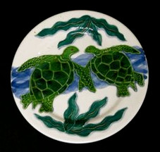 Ceramic Plate - Honu design