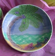 Ceramic Coconut Tree Pasta / fruit bowl