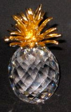 Hawaiian Crystal Pineapple With gold Top