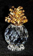 Hawaiian Crystal Pineapple with gold top - mini