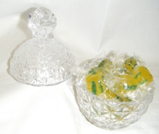 Crystal Pineapple candy dish with Pineapple candy