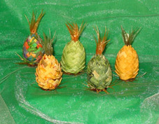 Mini Cloth Pineapple Ornament