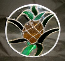 Stained Glass Pineapple Hanging