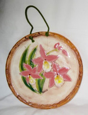 Ceramic tile Pink Hawaiian orchid