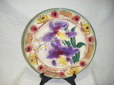 Ceramic Plate - Purple Orchid