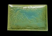Swaying Palms Sushi Dish Aqua Green