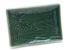 Swaying Palms Sushi Dish Green