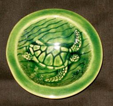Hand Carved Honu Dish
