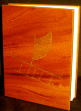 Koa Veneer Photo Album Outrigger Canoe 4x6