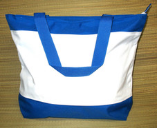 Blue and White Resort Tote