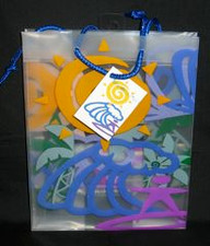Clear Wave Rider Gift Bag