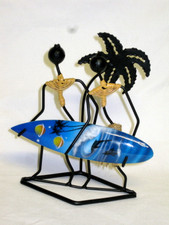 Hawaiian Iron surfer couple Sculpture