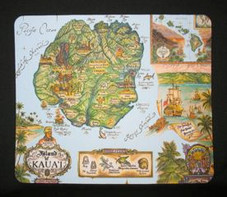 Historical Map Of Kaua'i Mouse Pad
