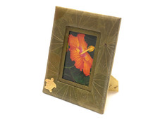 Tropical Green leaf photo Frame