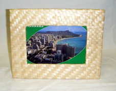 Woven Bamboo Frame 4x6, Blonde