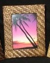 Woven Bamboo Frame 5x7 , Medium Brown