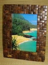 Tropical Coconut Shell Frame 5x7