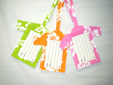 Aloha Shirt Luggage Tag - pink
