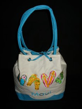 Canvas Maui  Beachside Slipper Tote