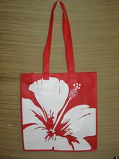 Island Tote red Hibiscus