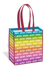 Hawaii Aloha Rainbow Shopping Tote