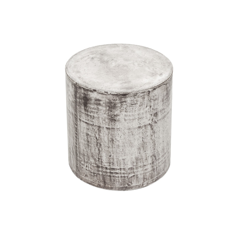 Concrete Look Stool Round