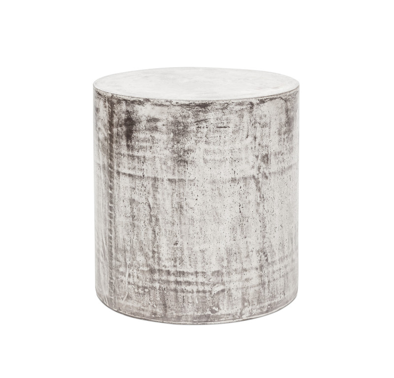 Concrete Look Side Table Round