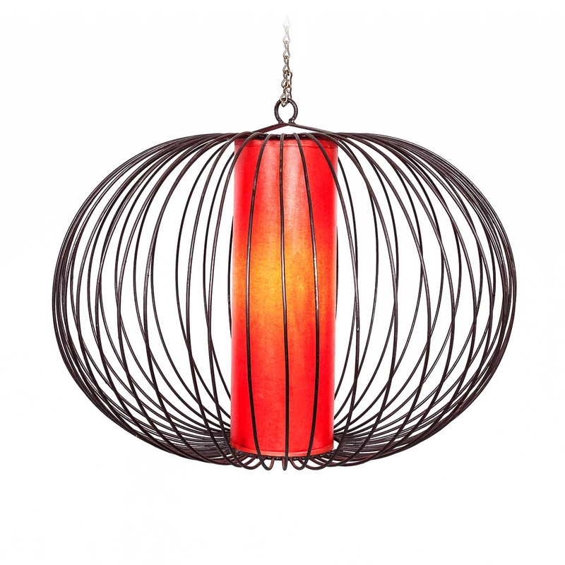Moroccan Pendant Light Shade Red 60cm