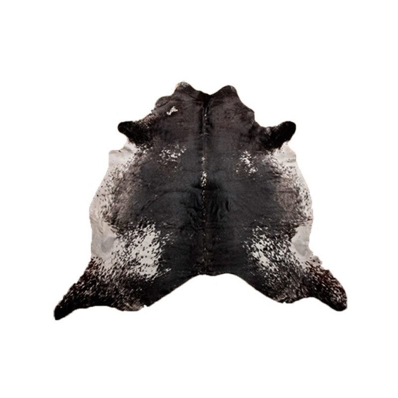 Cow Hide Dark Salt and Pepper
