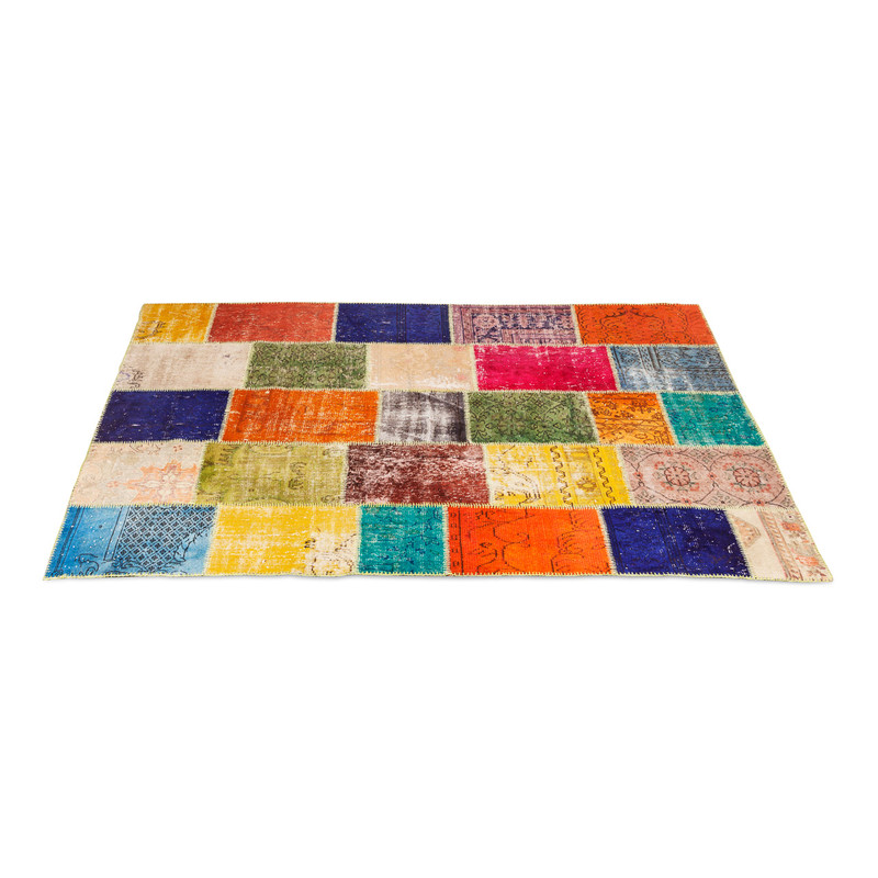 Turkish Over Dyed Patchwork Rug