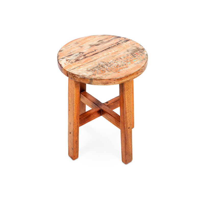 recycled boat timber stool