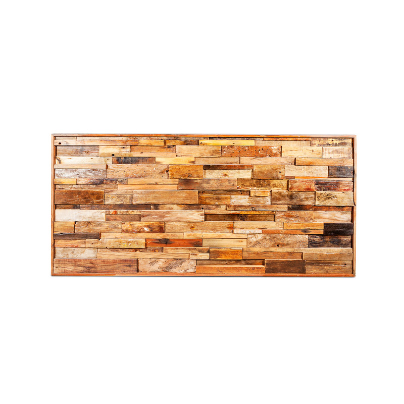 reclaimed wood wall art panel