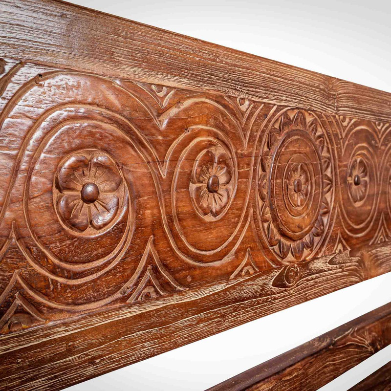 day bed carving