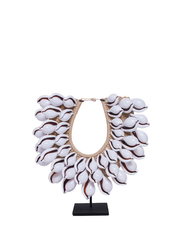 Cowrie Shell Necklace on Stand
