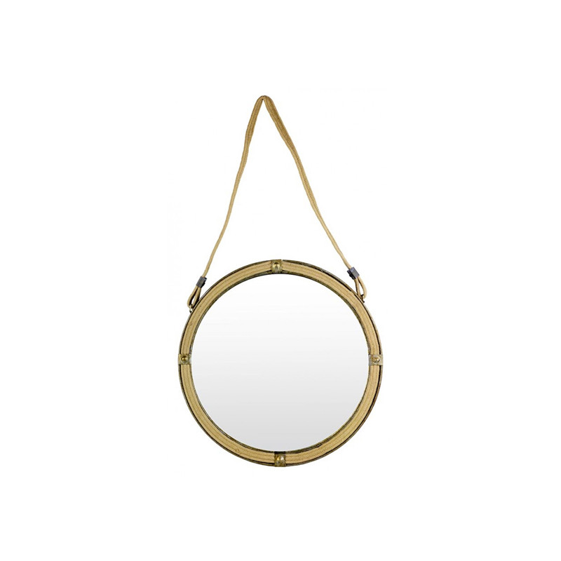 Round Braid Mirror Small
