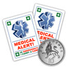 MEDICAL ALERT Stickers