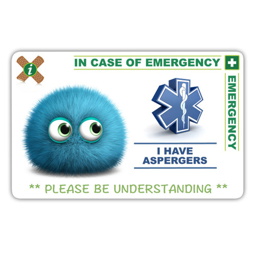 ASPERGERS CHILD design card front