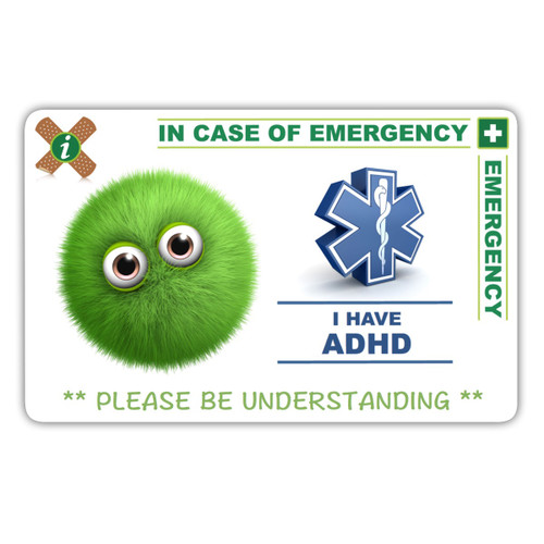 ADHD CHILD design card front