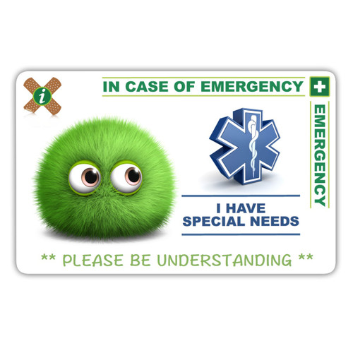 SPECIAL NEEDS CHILD design card front