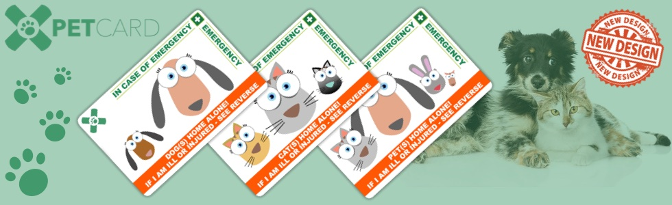 New PetCard - MAke sure your pet is taken care of if you are unable to.